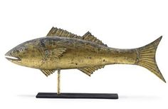 A MOLDED AND GILT COPPER CODFISH WEATHERVANE | AMERICAN, LATE 19TH/EARLY 20TH CENTURY | American Folk Art Auction | 19th Century, weathervane | Christie's
