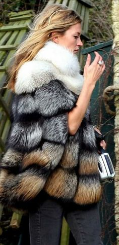 I know fur is murder... but c'mon this jacket is amazing (ft. Kate Moss)