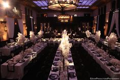 Blossom Room wedding reception at the Hollywood Roosevelt Hotel