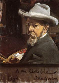 Page: Self-Portrait Artist: Joaquín Sorolla Completion Date: 1909 Place of Creation: Spain Style: Impressionism Genre: self-portrait Technique: oil Material: canvas Dimensions: 41 x 26 cm