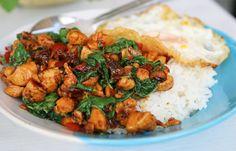 Thai Basil Chicken Recipe (pad Kra Pao Gai ผัดกระเพราไก่)