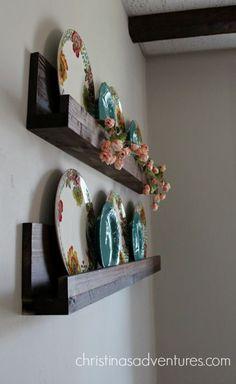 Simple DIY ledge shelf tutorial