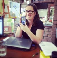 Amanda Kendle Consulting - this is me grinning my way through my Instagram Kitchen Table workshop
