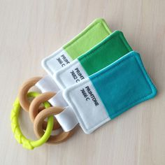 Color Swatch Teether Toy Set