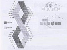 схема плетения браслета волнистого