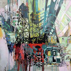 Peter Owen Rachel Owen, Cityscape Art, Urban Landscape, Art Google, Arcade, Abstract Art, Fair Grounds, Architecture, Drawings