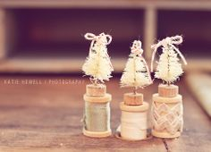 Brush Bottle Christmas Tree Decorations-- Perfect DIY Christmas Ornaments