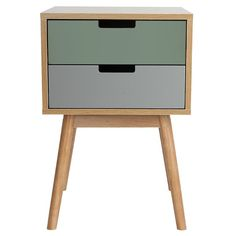 Graceful+Cabinet+-+Two+Drawers+-+Green+-+There's+no+time+like+the+present+to+go+retro+with+the+Graceful+Cabinet+-+Two+Drawers+-+Green! Make+yours+a+sophisticated+décor+with+this+vintage-inspired+cabinet+brimming+with+pizzazz.+Featuring+a+woodgrain+finish+and+a+selection+of+drawer+front+colours+in+tune+with+the+times+yet+suggestive+of+a+bygone+era,+Graceful+is+a+cabinet+chock-full+of+charm. Made+entirely+of+MDF,+this+stylish+bedside+table+from+Leitmotiv+is+light+and+easy+to+mov...