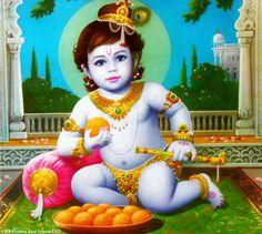Krishna Hindu, Radha Krishna Quotes, Jai Shree Krishna, Krishna Radha, Little Krishna, Bal Gopal, Lord Krishna Wallpapers, Blue Balloons, Hindu Art