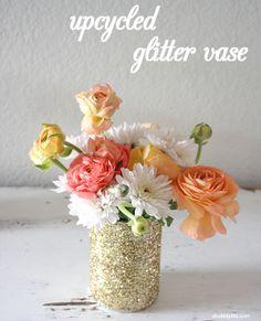 #Upcycled Glitter Vase #DIY