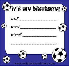 Soccer Invitation Template Birthday Boy | Cards | Pinterest ...