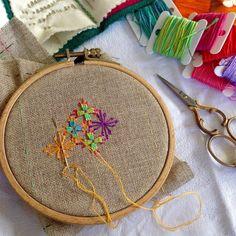 #embroidery #embroideryart #handembroidery #stitching