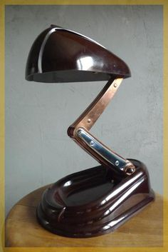 'Bolide', Art Deco Bakelite desk lamp, from French company Jumo, circa 1940…