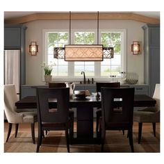 Remy Collection By Feiss: 4 Light Island Chandelier. #lighting #chandelier  # · Modern Dining Room ...