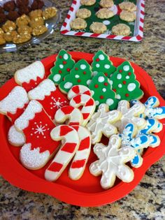 Beautiful Decorated Christmas cookies.  Great addition for your cookie exchange or neighbor gifts.
