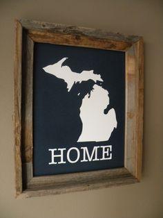Michigan Home Print. $22.00, via Etsy.