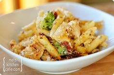 Baked Penne with Chicken, Broccoli and Smoked Mozzarella - I substituted, the sun-dried tomatoes for fire roasted red peppers. This dish is a lot of work but, worth it. Mmm!!