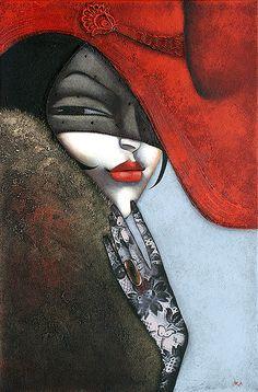 Ira Tsantekidou 1967 | Art Déco painting