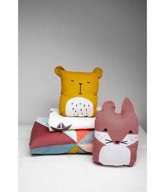 Fabelab FABELAB - Kussen vos oranje/rood