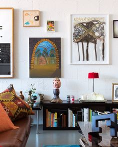 There are definitely perks to running your own gallery, check out the extraordinary collection of art this couple has in their home today on thedesignfiles.net. Styling by Lucy Feagins/The Design Files. Photo by Sean Fennessy.