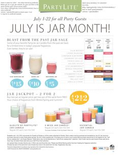 Did you like this SALE OFFER?  You think it was too bad for being only at parties?....GUESS WHAT, July 23-31 is becoming available ONLINE ONLY. Be prepare to take advantage of these STEAL DEALS!  VISIT MY PLACE www.partylite.biz/rifermarbiz and ORDER,  they go FAST!!!