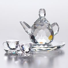 Crystal 4-piece Tea Set for tea anytime!