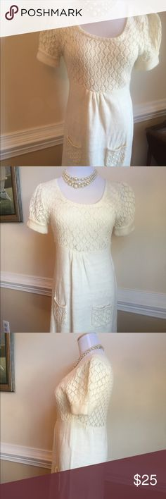 JJ Basics Knit Short Sleeves Dress Soft knit with short sleeves. Very simple but elegant. Looks great with boots or heels. Although it says XL, this is a jr dress. Not a plus size J.J. Basics Dresses