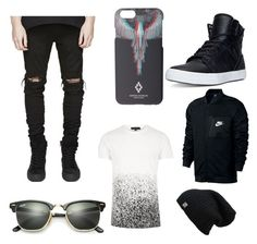 """Shop This Look"" by hectorgon on Polyvore featuring NIKE, Ray-Ban, Marcelo Burlon, Supra, men's fashion and menswear"
