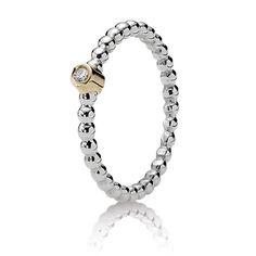 Pandora Evening Star Ring with Diamond