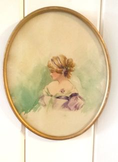 Victorian Gibson Girl Watercolor Painting by thelongacreflea