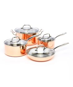 ExcelSteel 546 Professional 8-Piece Triply Cookware Set with Stainless Steel Cast Handles and Knobs, Copper ** Learn more by visiting the image link.