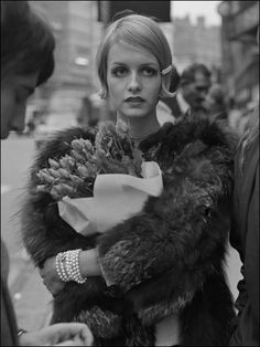 "London-born Twiggy - formerly known as Lesley Hornby - became the face of the ""Swinging Sixties"". This photograph was taken by O'Neill in 1967."