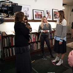 On the set of YoungerTV with Sutton Foster and Hilary Duff. Click to watch Hilary and Sutton on YoungerTV on TV Land.