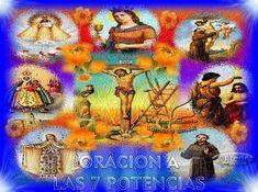 Oración a LAS 7 POTENCIAS para conseguir Dinero de Urgencia | ►Mhoni Vidente Mantra, Painting, Santa Cruz, Miracle Prayer, Yoruba Religion, Powerful Prayers, Painting Art, Paintings, Painted Canvas