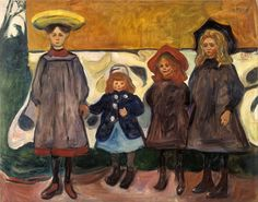 Edvard Munch Four Girls in Åsgårdstrand 1903