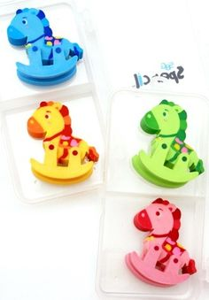 Spencil Rocking Horse Eraser Set