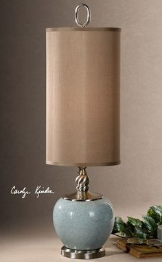 """Uttermost Lilia Buffet 34"""" H Table Lamp with Drum Shade & Reviews   Wayfair"""