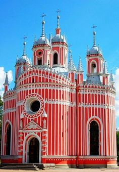Chesme Church in St. Petersburg, Russia
