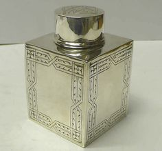 Art Nouveau Style Silver Tea Caddy Box 1936 Liberty Co