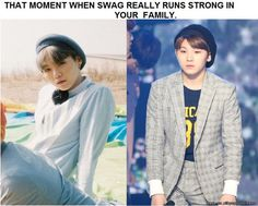 the swaeg family / so cute... Suga + Woozi