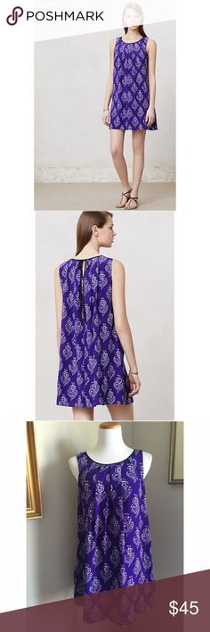 "Anthropologie Maeve ""Petal Stamp"" dress S The name ""Maeve"" references a purple flower, a Greek goddess and a famously beautiful Irish warrior queen. In light of these inspirations, it's no surprise that the Maeve brand is both feminine and playful, a representation of beauty and strength at once. Case in point: this effortlessly chic silk swing dress.Side pockets. Pullover styling. Silk; polyester lining. 34.5""L, 34"" bust.✅offers❌trades/PP 💰bundles save 20% off 2+ Anthropologie Dresses"