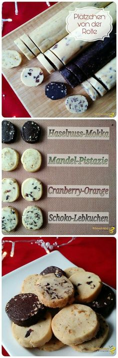 Cookies from the roll - Kuchen - Chocolate No Bake Cookies, Cookies Et Biscuits, Cake Cookies, Baking Recipes, Cookie Recipes, Dessert Recipes, Cookie Tips, Xmas Food, Christmas Baking