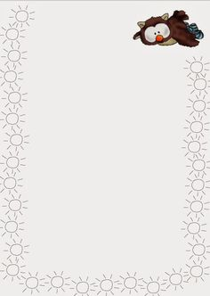 Printable August border. Use the border in Microsoft Word