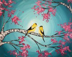 Two little birds, sitting in a tree…..#love #beauty #art #nature