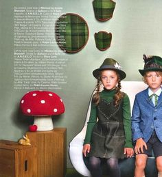 Vogue Bambini latest issue with Anne-Claire Petit mushroom pouffe