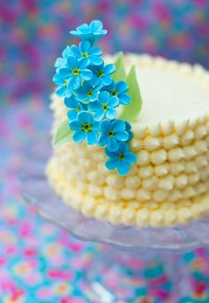 forget me not cake