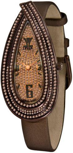 Le Vian Women'S Cardona Chocolate Diamond (3-1/4 Ct. T.W.) Brown Satin Strap 27X55Mm in Brown (chocolate)
