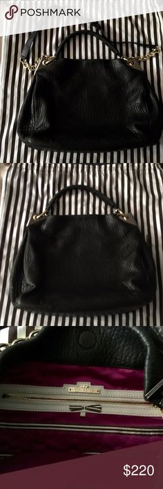 """Fly with me"" Henri Bendel leather hobo Like New... No stains, scuffs or tears..in perfect condition!  The short strap is a braided leather style. The long strap is both chain and leather (adjustable).  This bag is very well-made and is high-quality. henri bendel Bags Hobos"