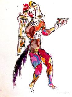 Papageno's costume designed by Marc Chagall for the Metropolitan Opera in New York
