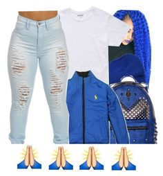 """"""""""" by beautifulme078 ❤ liked on Polyvore featuring malo, Bonobos and MCM"""